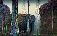 Gothic Forest, by Eyvind Earle