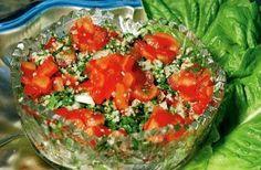 Tabbouleh - petrezselyem saláta Bruschetta, Food And Drink, Vegetables, Ethnic Recipes, Vegetable Recipes, Veggies