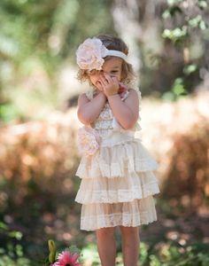 Babydoll lace dress, flower girl dress, lace flower girl, flower girl dresses, toddler lace dress, baby dress, rustic flower girl dress, rustic wedding, vintage wedding dress, boho flower girl dress