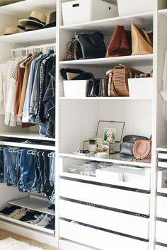 Bedroom Wardrobe Storage Ikea Pax Closet System 28 Ideas For 2019 Ikea Walk In Wardrobe, Wardrobe Storage, Wardrobe Closet, Closet Bedroom, Closet Storage, Closet Organization, Master Closet, Organization Ideas, Storage Ideas