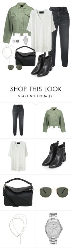 """#LookAtMe"" by annap-style ❤ liked on Polyvore featuring Alexander Wang, Thakoon Addition, Topshop, Loewe, Ray-Ban and FOSSIL"