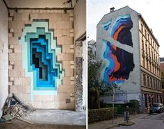 New Murals by '1010' Expose Hidden Portals of Color in Walls and Buildings