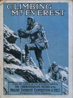 Vintage Travel, Vintage Ads, Vintage Posters, Hiking Images, Monte Everest, Mountain Climbing, Outdoor Stuff, Vintage Illustrations, British History