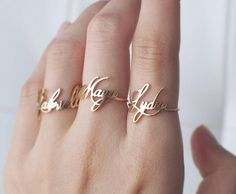 Custom Name Ring - Personalized Name Ring - Your Name Jewelry - Family Name - Family Jewelry - Sentimental Christmas Gifts #PR04F61