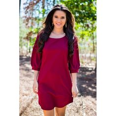"""Casey Shift Dress - RESTOCKED in Burgundy enter SOFLAGRL under """"view cart"""" for a discount"""