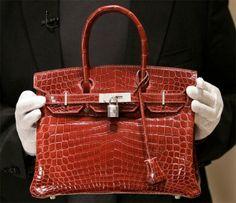 Bolsa Birkin em couro de crocodilo - será que vai mudar de nome?