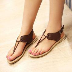 Skechers Go Walk 3 Womens Shoes Shoes Flats Sandals, Cute Sandals, Flat Sandals, Cute Shoes, Flat Shoes, Leather Slippers, Leather Sandals, Maroon Shoes, Womens Summer Shoes