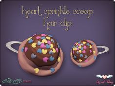 Heart Sprinkle Scoop Hair Clip by Sweet Thing.