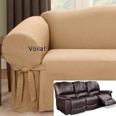 Slipcover 4 recliner couch on Pinterest