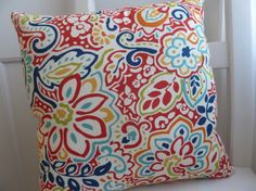 Tropical Floral Throw Pillow by 715pillows on Etsy