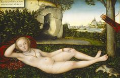 """Lucas Cranach the Elder """"The Nymph of the Spring"""" after 1537 (National Gallery of Art, Washington DC)"""