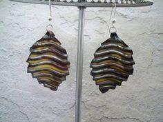 Leafy Enameled Copper earrings by fyfchicenergy on Etsy, $18.00