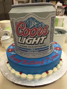 Farm Cake, Occasion Cakes, Let Them Eat Cake, Coffee Cans, Food Art, Brewing, Cold, Canning, Home Canning