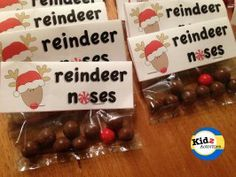 On pinterest letter from santa reindeer noses and santa sack