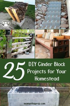 25+ DIY Cinder Block Projects for Your Home @ Momwithaprep.com: