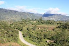 Photo taken at Oiyarip, looking back toward Mendi, Southern Highlands Province. Papua New Guinea.