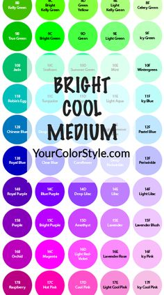 Get Your Complete Bright, Cool & Medium Color Palette Hi, I'm Jen Thoden. Download the complete Bright, Cool & Medium color palette exclusively from my new Your Color Style™ system. This color palette is ideal for people with warm undertones, who can wear clear colors (muted colors drain th