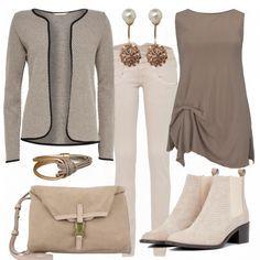 Freizeit Outfits: TaupeLook bei FrauenOutfits.de