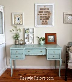 Restyle Relove: Antique Painted Dressing Table
