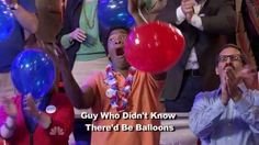 The surprise balloons: