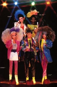 Barbie and the Rockers | The 10 Absolute Best Girl Toy Lines Of The '80s...OMG this list brought me right back to the days in our basements playing with most of the toys on this list for hours and hours @jessica @lindsey @rachel