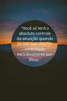 Deixe Deus te guiar.