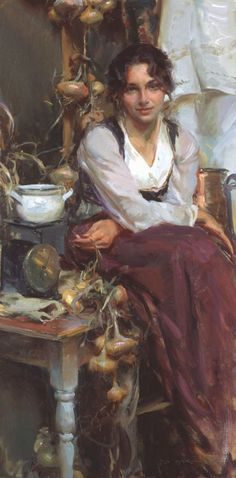Italy Oil on canvas Daniel F. Gerhartz (1965-)