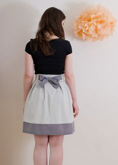 Chardon skirt- adorable pattern from Deer and Doe.
