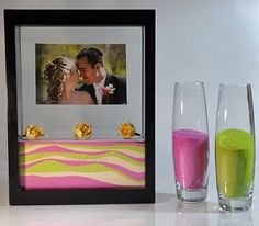 Unity Sand Frame...great because we are doing an outside wedding and the candle may not stay lit.