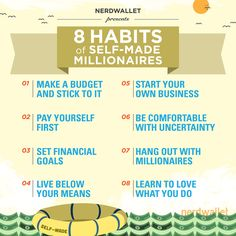 8 Habits of Self-Made Millionaires