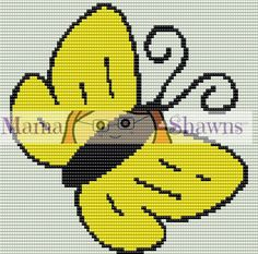 C2C Butterfly Graphghan, Corner to Corner, Written Pattern, Word Chart, Row by Row Directions, Crochet Pattern, Crochet Bedding, PDF File by MamaShawns on Etsy