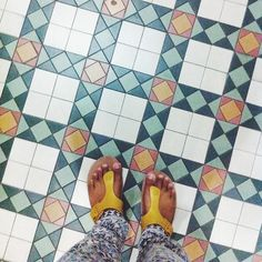 Singapore is tile heaven even at SAM itself I found lots of gorgeous tiles (so excuse the same sandals/trousers in all my recent tile photos ) #ihavethisthingwithtiles by dewtraveller