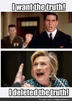 Hillary for prison 2016! #Hillno