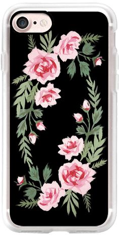 Casetify iPhone 7 Classic Grip Case - FIFI FLORA | NOIR by E U N E V E #Casetify