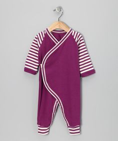 Take a look at this LAPSAKY Organics Beetle Berry Organic Playsuit - Infant by Simply Organic Collection on #zulily today!