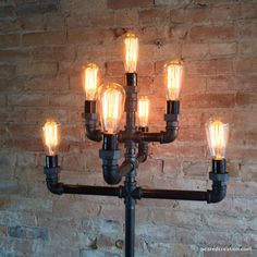 Floor Lamp Multiple Edison Bulb Industrial Style Iron Pipe Lighting is part of Industrial floor lamps - Edison Lampe, Diy Floor Lamp, Edison Bulbs, Industrial Style Floor Lamp, Industrial Lighting, Industrial Furniture, Vintage Industrial, Industrial Pipe, Diy Home