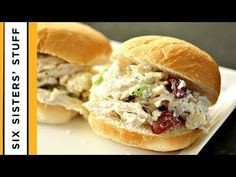 This chicken salad sandwich recipe is easy to make and full of flavor! Learn how to make chicken salad with our secret ingredient: ranch dressing! Zucchini Noodle Recipes, Zoodle Recipes, Ranch Chicken Salad Sandwich Recipe, Spicy Chicken Rigatoni, Creamy Spaghetti, Delicious Sandwiches, Spaghetti Recipes, Tasty Dishes, Dinner Recipes