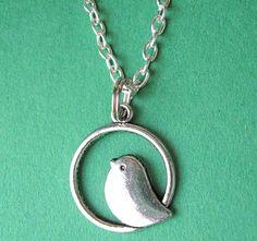 "$17.00.  So ""tweet"".  SILVER BIRDIE NECKLACE.  http://www.etsy.com/listing/108920212/silver-birdie-necklace?ref=shop_home_active"