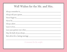 Advice Card Bridal Shower Game 20 Printed by GallyGoods on Etsy, $30.00