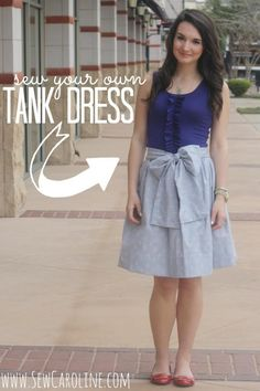 DIY TANK DRESS {USE A LONG SLEEVE FOR FALL} - LOVESTITCHED