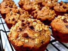 Crunchy Maple-Banana-Pecan Breakfast Muffins | Noble Pig