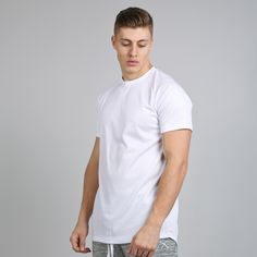 Vent Zip Up Longline T-shirt - White  // Click the link to buy or for more info - https://www.king-apparel.com/new-collection/t-shirts/vent-zip-up-longline-t-shirt-white.html