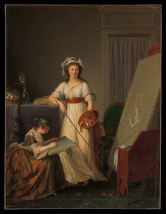 The Interior of an Atelier of a Woman Painter