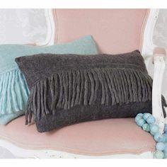 Grey Dougal Cushion | Bedroom Cushion - French Bedroom Cushion