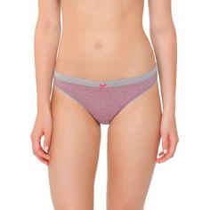 Women's Cotton Bikini Briefs Pink/Gray XS - Xhilaration