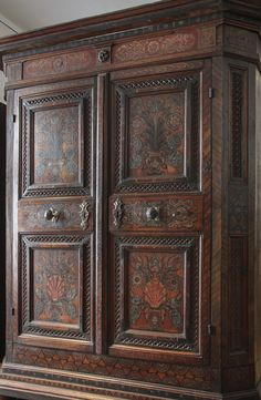 Red painted wardrobe, Vienna, The Austrian Museum of Folk Life and Folk Art