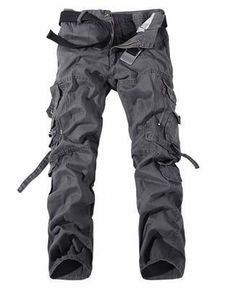 f3122461 2018 Men Cargo Pant Casual Men Multi-Pocket Overall Male Combat Cotton  Trouserseticdress