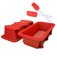 SASRL Silicone Loaf and Bread Pan  Red  Nonstick  Commercial Grade2PCS ** Be sure to check out this awesome product.Note:It is affiliate link to Amazon.