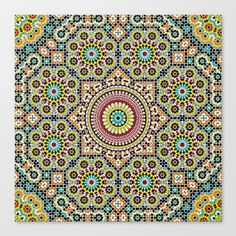 Buy Moroccan Traditional Wall Art Canvas Print by mr0frankenstein. Worldwide shipping available at Society6.com. Just one of millions of high quality products available.