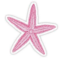 Pink starfish Sticker